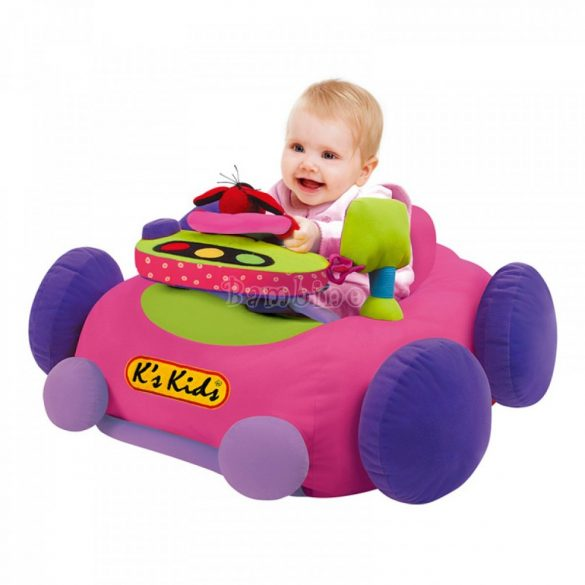Ks Kids óriás plüss foglalkoztató rózsaszín bébiautó
