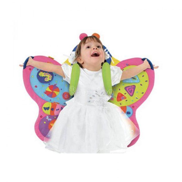 Pillangó játszószőnyeg és hátra vehető pillangószárny 2in1