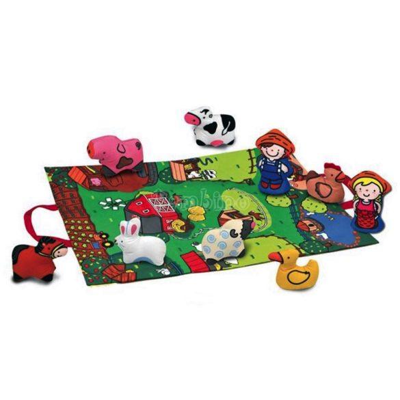 Farm játszószőnyeg állatfigurákkal