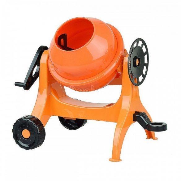 Játék betonkeverő, narancssárga
