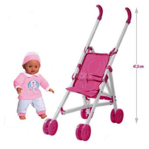 Játék babakocsi babával