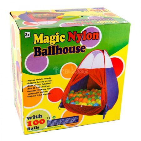 Gyermek játszósátor 100 db labdával