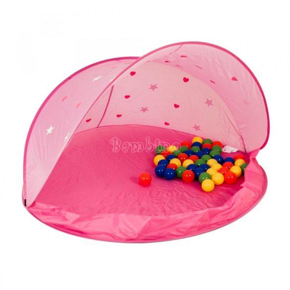 Játszósátor 50 színes labdával - rózsaszín