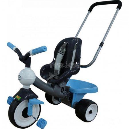 Kék szülőkaros tricikli