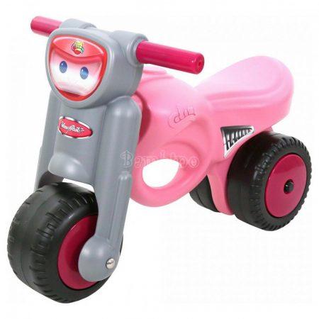 Rózsaszín kismotor bébitaxi