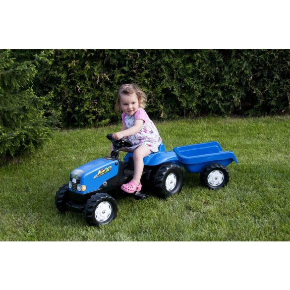 Rolly Kid Landini pedálos gyerek traktor le-felszerelhető utánfutóval