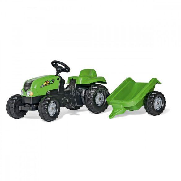 Rolly Kid-X pedálos játék traktor le-felszerelhető utánfutóval