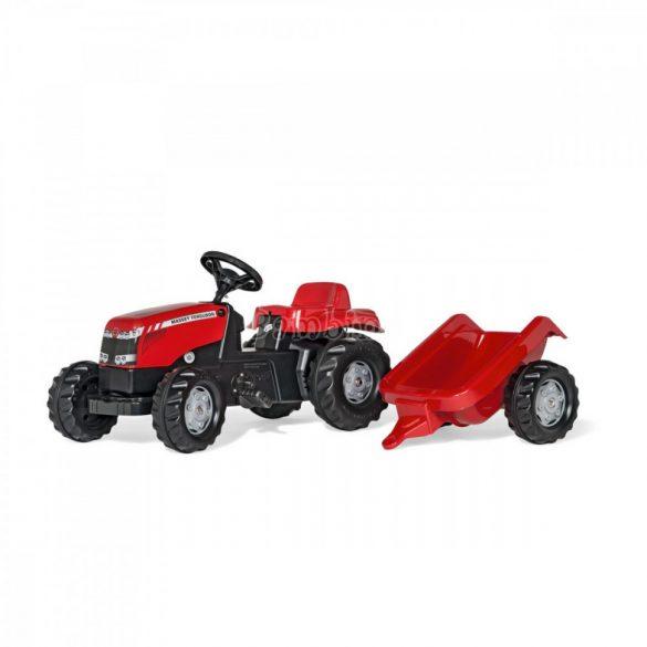 Massey Ferguson pedálos traktor utánfutóval