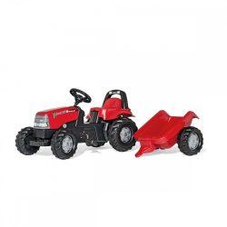 Rolly Kid Case CVX 1170 pedálos gyerek traktor utánfutóval