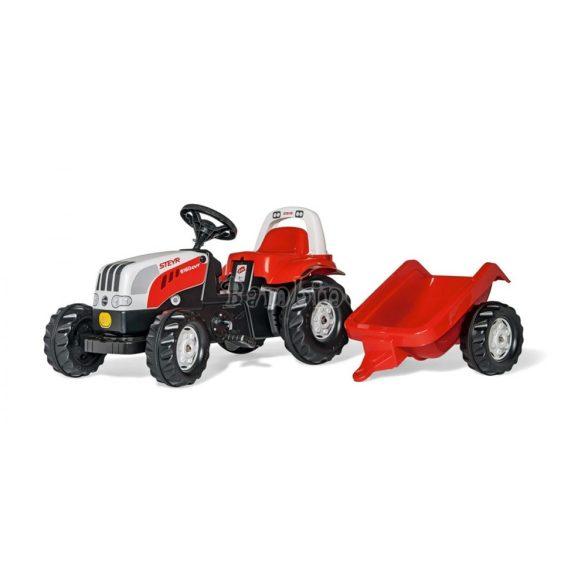 Steyr 6160 CVT pedálos traktor utánfutóval