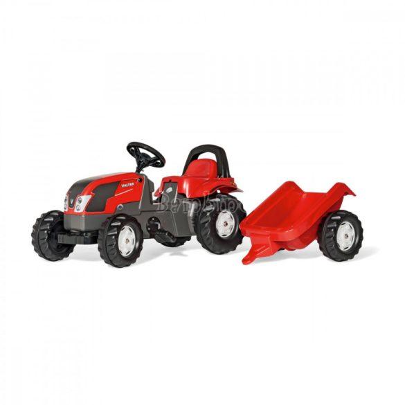 Rolly Kid Valtra pedálos gyors játék traktor utánfutóval