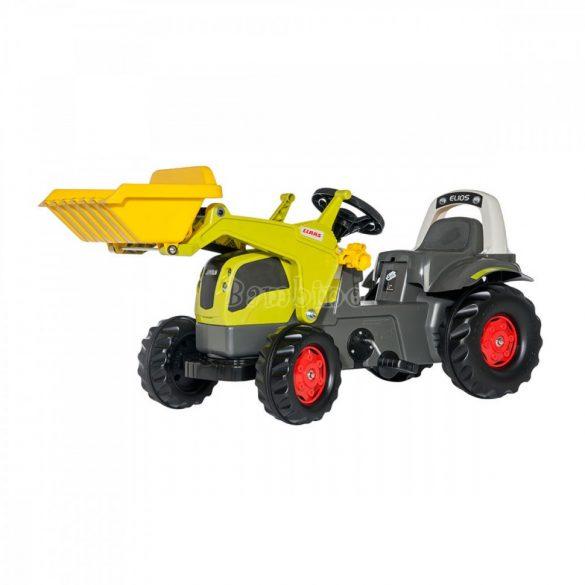 Rolly Kid Claas Elios pedálos markolós játék traktor