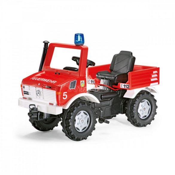 Rolly FarmTrac Mercedes Unimog játék pedálos tűzoltóautó