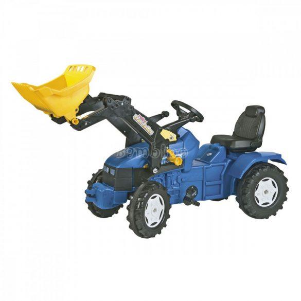 Rolly FarmTrac New Holland TD 500 játék pedálos traktor markolóval