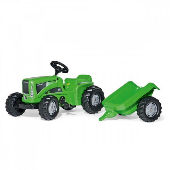 Rolly Kiddy Futura pedálos gyerek traktor utánfutóval