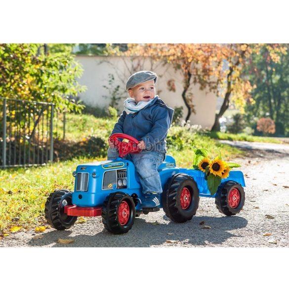 Classic pedálos traktor utánfutóval