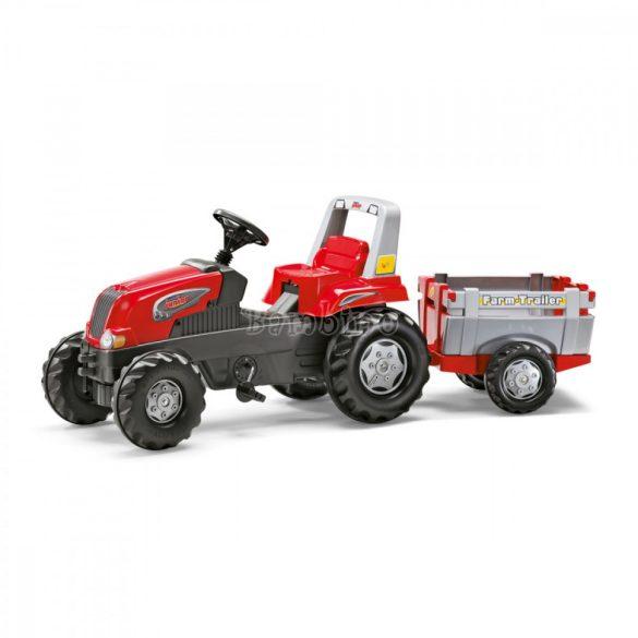 Junior pedálos traktor utánfutóval