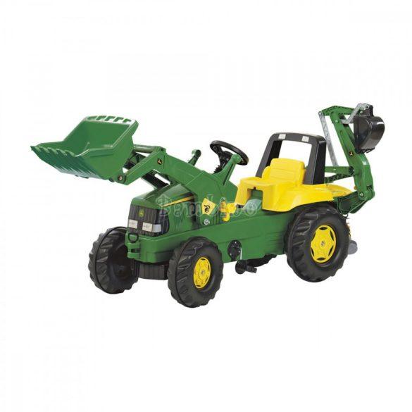 Rolly Junior John Deere játék pedálos markolós traktor exkavátorral