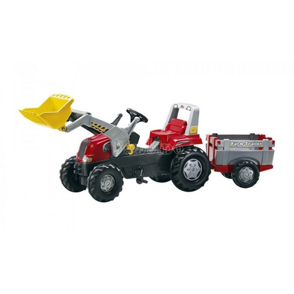 Junior markolós traktor utánfutóval