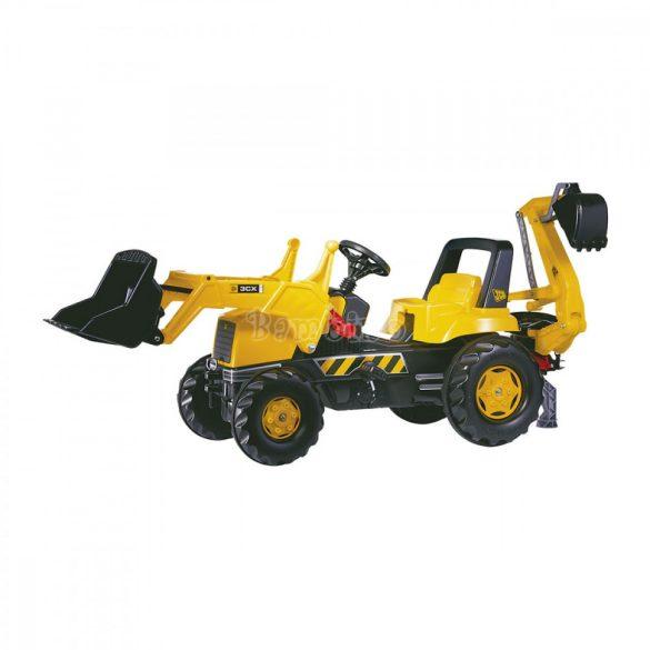 Rolly Junior JCB gyerek pedálos markolós traktor exkavátorral - állítható üléssel