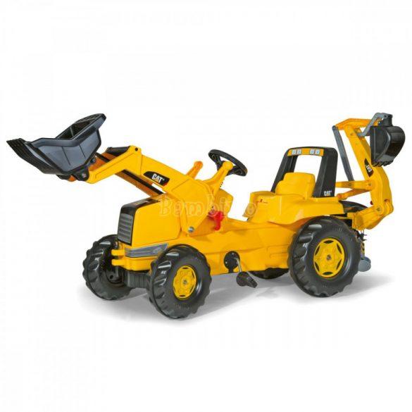 Rolly Junior CAT játék ráülős, pedálos markolós traktor exkavátorral - állítható ülés