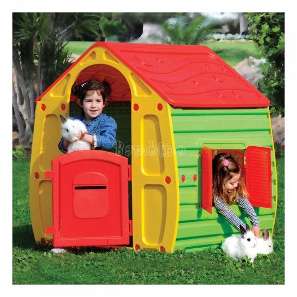 Gyermek játszóház - sárga - zöld
