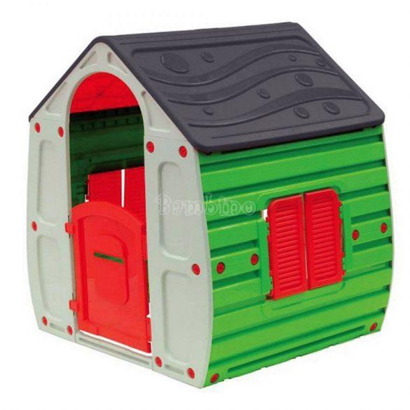 Gyermek játszóház - szürke - zöld