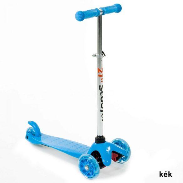 Háromkerekű világító roller - kék