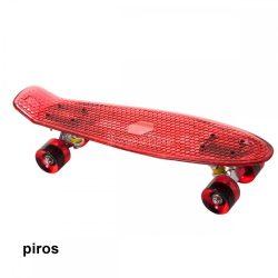 Penny board világító, piros gördeszka
